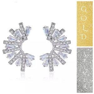 🆕Swarovski Crystals Curve Earrings